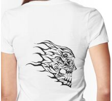 Flaming Head tribal Womens Fitted T-Shirt