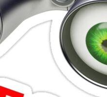 binocular device - i search Sticker