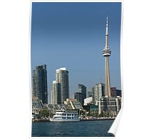 Up Close And Personal - Toronto's Skyline From The Harbour Poster