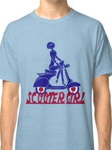 Retro look scooter girl design Classic T-Shirt