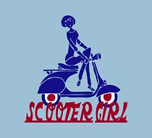Retro look scooter girl design Womens Fitted T-Shirt