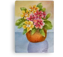 Polyanthus watercolour painting Canvas Print