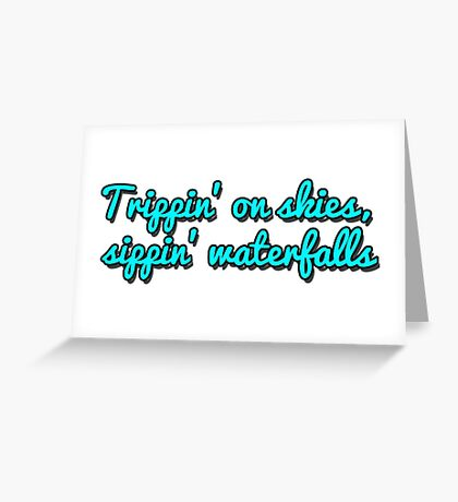 """Troye Sivan: Youth """"Trippin' on skies"""" Greeting Card"""