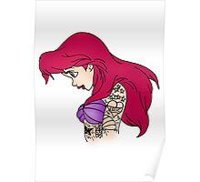 Tattooed Ariel Poster