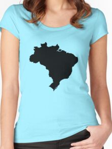 Map of Brazil Women's Fitted Scoop T-Shirt