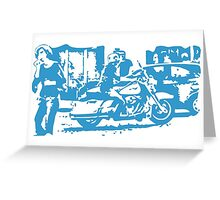 Biker in the Alley VRS2 Greeting Card