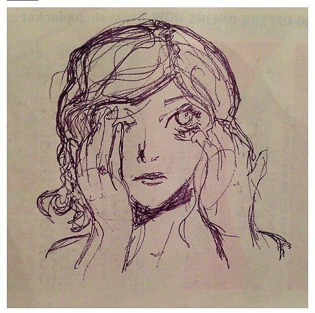 Receipt Paper Girl by Rachel Young