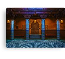 Moroccan Pavilion Fountain High Dynamic Range Canvas Print