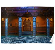 Moroccan Pavilion Fountain High Dynamic Range Poster