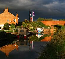 Dark Sky Over Canal by Antony R James