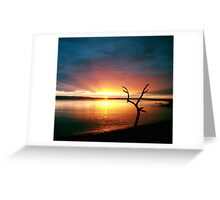 Burnham-on-Sea - Sunset #1 Greeting Card