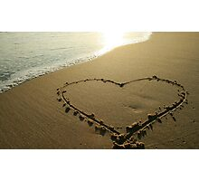Love on the beach Photographic Print