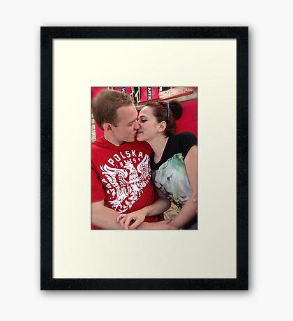 That's love ! Framed Print