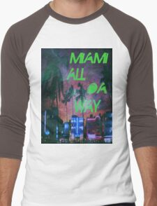 Miami all da way Men's Baseball ¾ T-Shirt