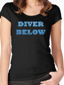 Scuba Diver Below with bubbles Women's Fitted Scoop T-Shirt