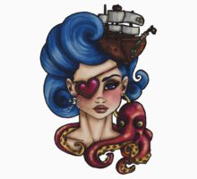 Nautical Octopus Pirate Girl by HungryDesigns
