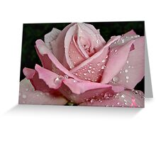 """Rainy Day Rose of Love"" Greeting Card"