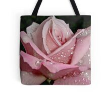 """Rainy Day Rose of Love"" Tote Bag"