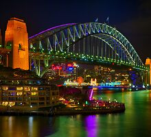 Vibrant Sydney Harbour Bridge by renekisselbach