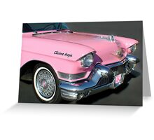 """""""Pink Cadillac For The Cure"""" Greeting Card"""