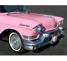 """Pink Cadillac For The Cure"" Photographic Print"