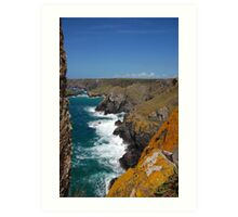 Cornish coastline  Art Print