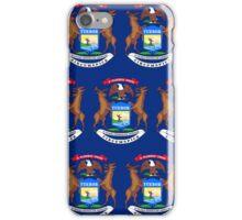 Smartphone Case - State Flag of Michigan - Horizontal II iPhone Case/Skin