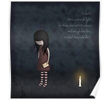 Whimsical Melancholy Emo Girl Poster