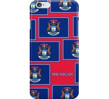 Smartphone Case - State Flag of Michigan - Horizontal IV iPhone Case/Skin