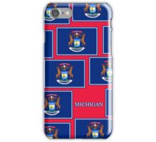 Smartphone Case - State Flag of Michigan - Horizontal IV iPhone Case/Skin