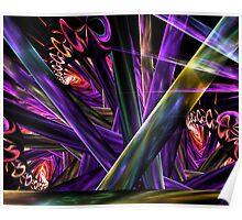 Trumpet Flora Invades Planks Poster