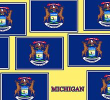 Smartphone Case - State Flag of Michigan - Horizontal VI by Mark Podger