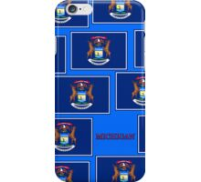 Smartphone Case - State Flag of Michigan - Horizontal VII iPhone Case/Skin