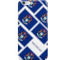 Smartphone Case - State Flag of Michigan - Diagonal I iPhone Case/Skin