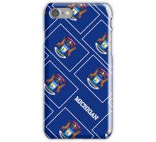 Smartphone Case - State Flag of Michigan - Diagonal II iPhone Case/Skin