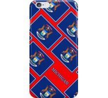 Smartphone Case - State Flag of Michigan - Diagonal III iPhone Case/Skin