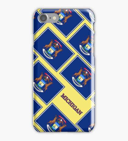 Smartphone Case - State Flag of Michigan - Diagonal V iPhone Case/Skin