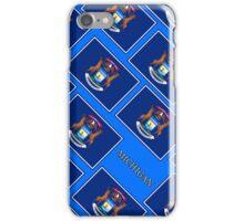 Smartphone Case - State Flag of Michigan - Diagonal VI iPhone Case/Skin