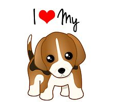 Cute Little Beagle Puppy Dog by ArtformDesigns
