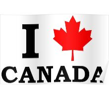 I Love Canada  Poster