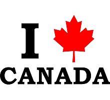 I Love Canada  Photographic Print