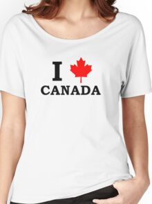 I Love Canada  Women's Relaxed Fit T-Shirt