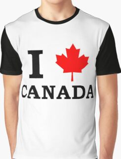 I Love Canada  Graphic T-Shirt