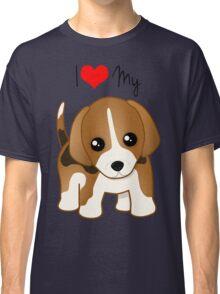 Cute Little Beagle Puppy Dog Classic T-Shirt