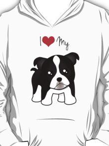 Cute Little Boston Terrier Puppy Dog T-Shirt