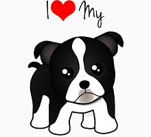 Cute Little Boston Terrier Puppy Dog Unisex T-Shirt