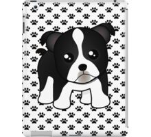Cute Little Boston Terrier Puppy Dog iPad Case/Skin