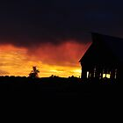 Old Barn At Sunset by CADavis