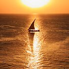 Dhow Boat Sunset  by aidan  moran