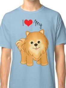 Cute Little Pomeranian Puppy Dog Classic T-Shirt